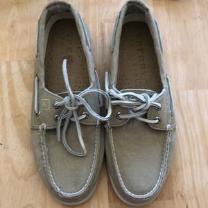 SPERRY Top Sider Khaki Upper with Rawhide Laces